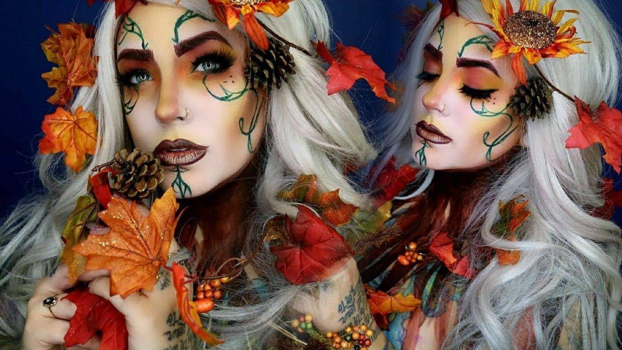 Fall Queen Makeup Tutorial Fairy Halloween Youtube Halloween Makeup Inspiration Queen Makeup Fairy Halloween Makeup