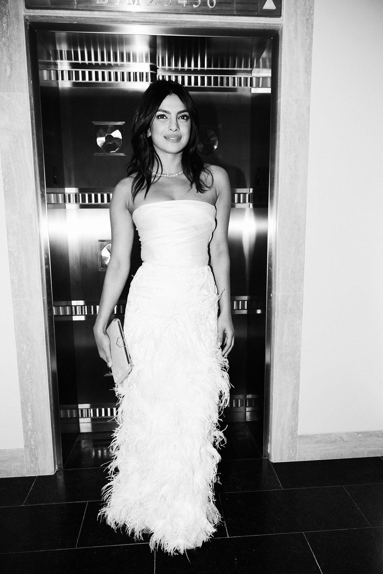 An Exclusive Look Inside Priyanka Chopra S Bridal Shower At Tiffany S Blue Box Cafe Bridal Shower Dress Wedding Dress Long Sleeve Priyanka Chopra Wedding [ 2000 x 1333 Pixel ]
