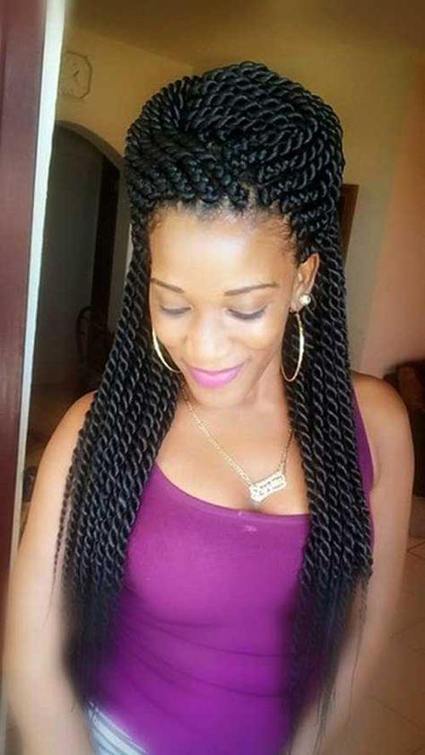Peinados en trenzas para mujeres afro