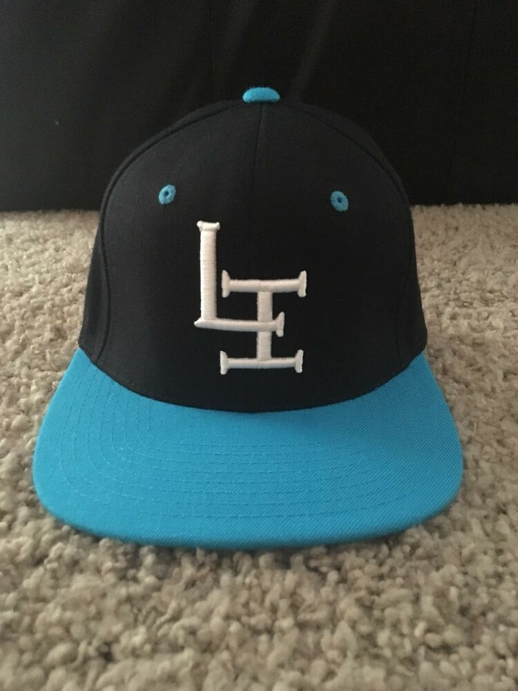 LI Brand Snap-back One Size Fits All Big Brimmed Black and Blue Hat New  LIDS  fashion  clothing  shoes  accessories  mensaccessories  hats (ebay  link) 9bf7ab09556f
