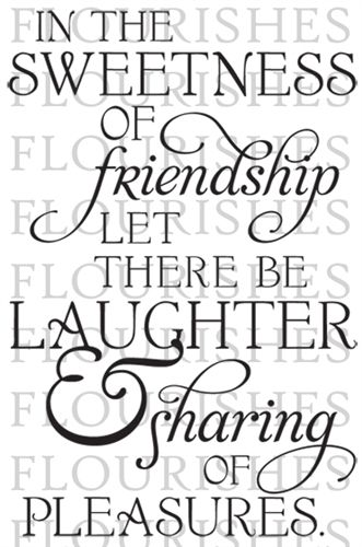 Sweetness of friendship single stamps greeting card verses sweetness of friendship single stamps card sayingscard m4hsunfo