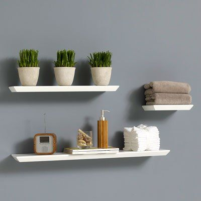 Floating Shelf Love The Plants Perfect For The Bathrom