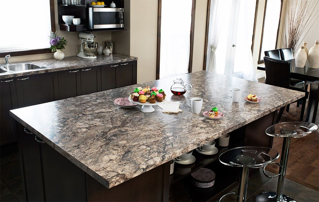 Typhoon Ice Laminate With Black Cabinet  Typhoon Ice Laminate Adorable Kitchen Counter Top Design Inspiration