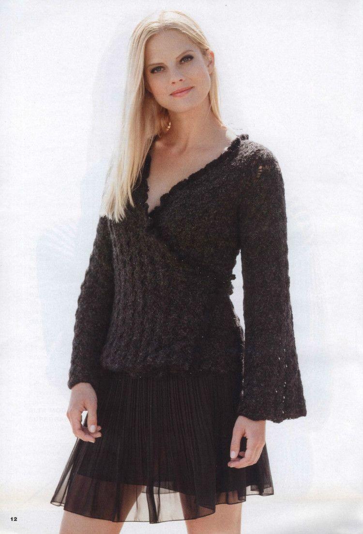 Filati Handknitting №55 2014 - 轻描淡写 - 轻描淡写 | Knit cardigan ...