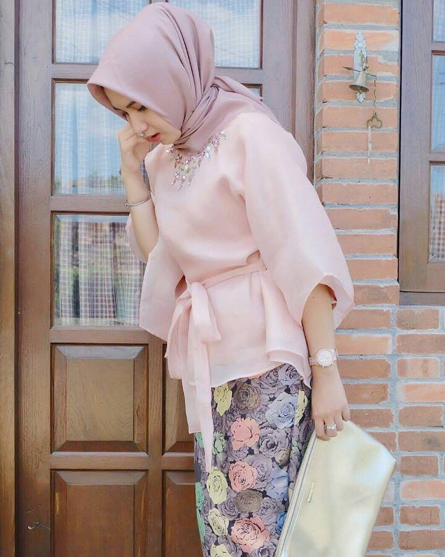 Pin By Terosha Reynanda On Hijabi Formal In 2018 Pinterest Baju Koko Bordir Sandi Kebaya Hijab Fashion And
