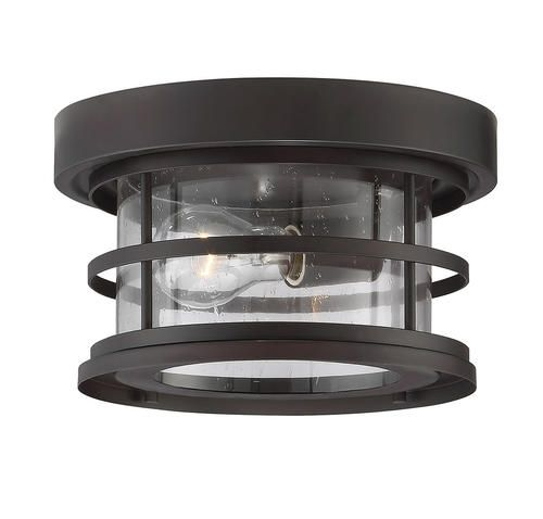 1 light english bronze outdoor flush mount ceiling light at menards for the entryway