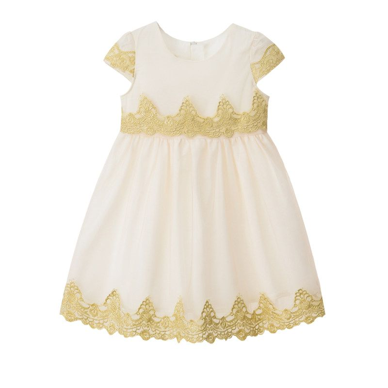 d78e2c309b1d Inmusion Kids Dresses for Girls 2017 Fashion White Flower Wedding ...