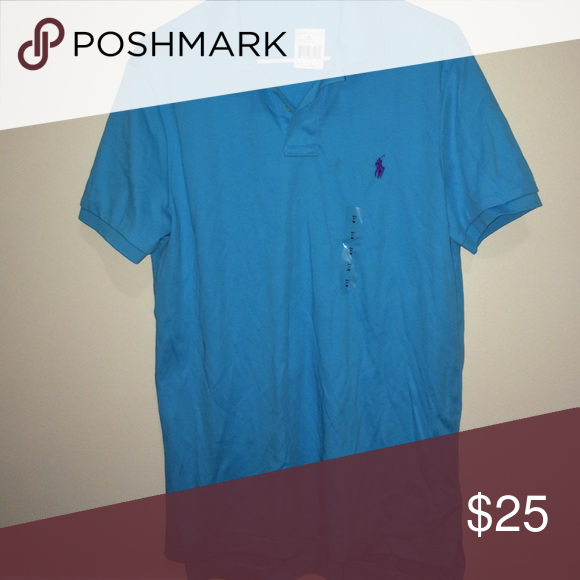 Polo shirt Sits in a drawer, never worn. Purple horse. Men's fitting Polo by Ralph Lauren Tops Button Down Shirts