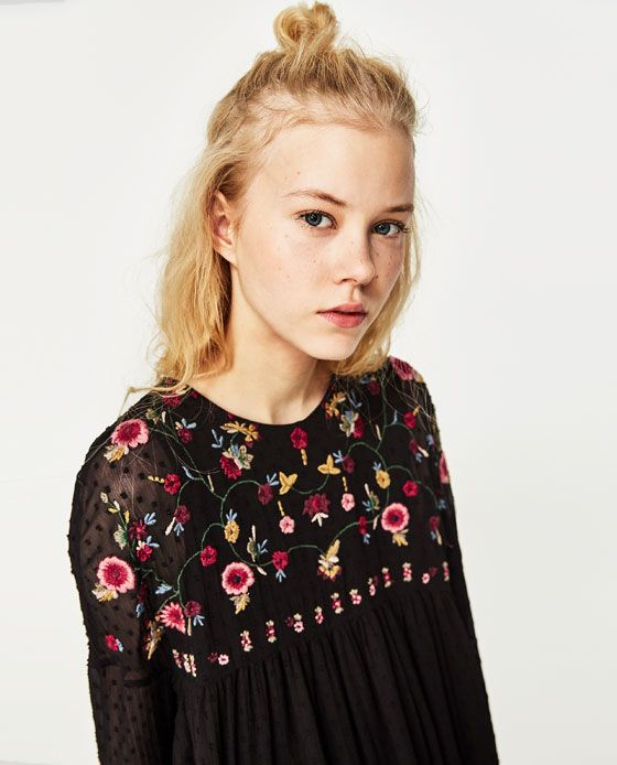 4df4e721 Image 2 of PLUMETIS EMBROIDERED DRESS from Zara   fashion   Floral ...