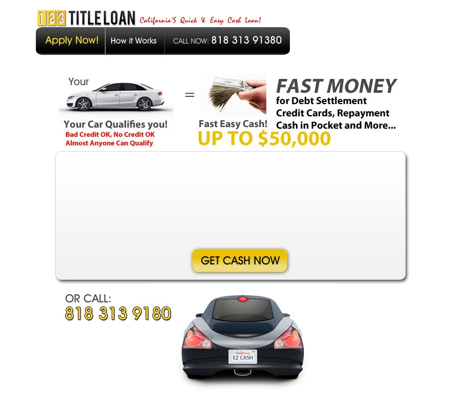 Quick and easy title loans! Easy cash, Fast money, Loan
