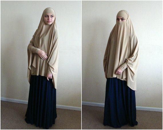 Transformer Beige Khimar Niqab Transformer Beige Niqab Beige Nikab Traditional Hijab 1 Piece Hijab Ready To Wear Hijab Lo Niqab Muslim Dress Hijab Fashion