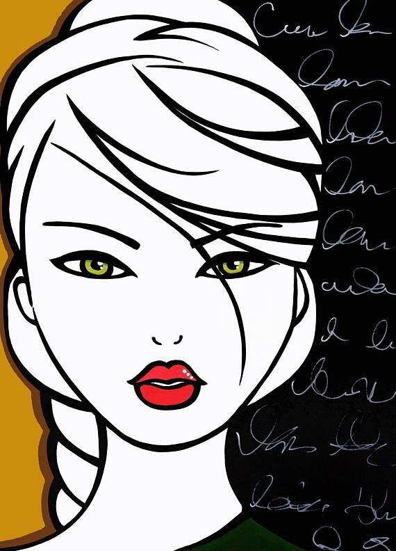 Abstrakte Leinwand Drucken Original Modern Pop-Art | Modern Abstract ...