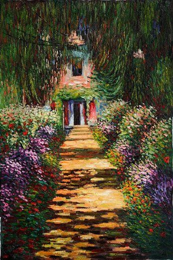 Claude Monet Garden Path At Giverny Iv Painting Claude Monet