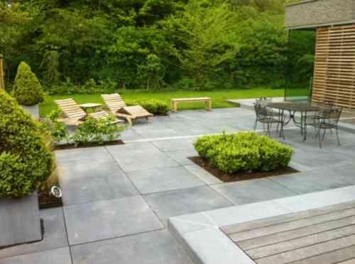 Revêtement terrasse  57 idées d\u0027inspiration pour les sols Patios - Dalle De Beton Exterieur