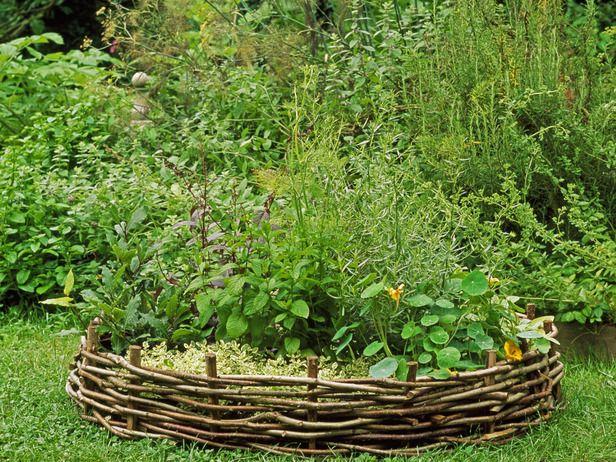 wattle fence around little herb garden Garden Pinterest