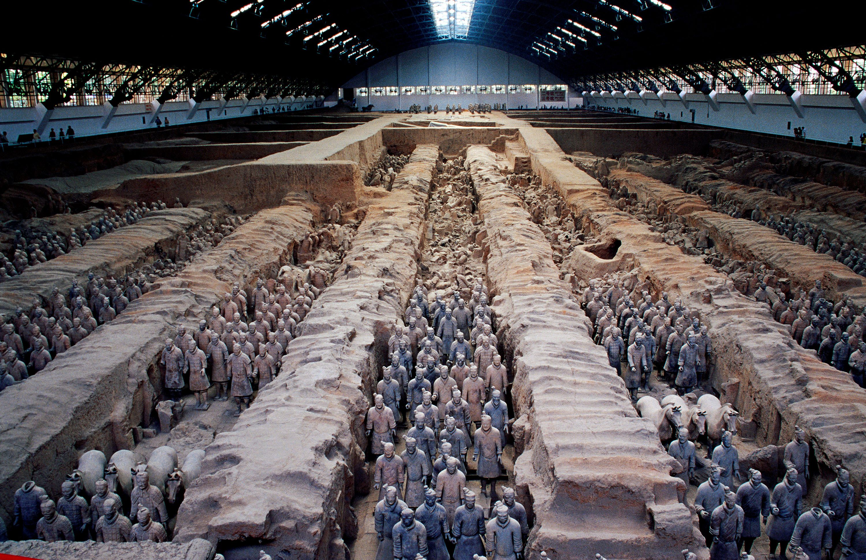 Picture of the terra-cotta warriors from the Mausoleum of the First Qin  Emperor in China | World heritage sites, Terracotta, Terracotta warriors