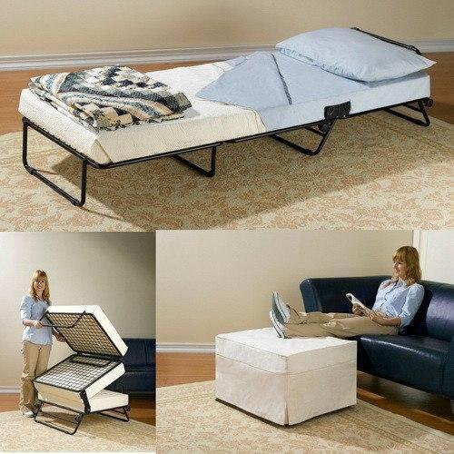 Folding Ottoman Sleeper Guest Bed In 2020 Sleeper Ottoman Guest