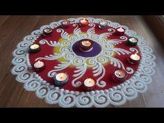 Super easy sanskar bharti rangoli designs with colours for Diwali by Shital Daga