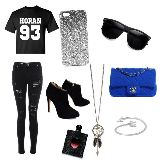 """""""Out w/ Niall ❤️✌"""" by sennax on Polyvore featuring mode, Giuseppe Zanotti, Chanel, Yves Saint Laurent en Topshop"""