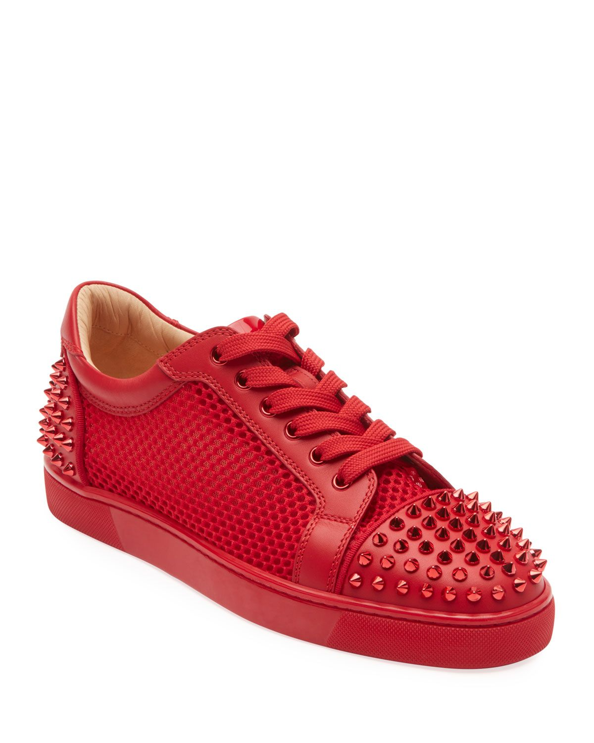 louboutin mens low top trainers