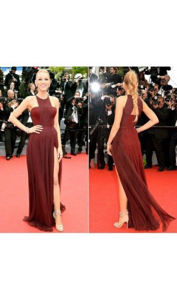 Shoes: prom, dress, red dress, blake lively, high heels, nude ...