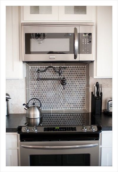 Under Counter Microwave For Easier Works: Faucet Over Stove - Google Search