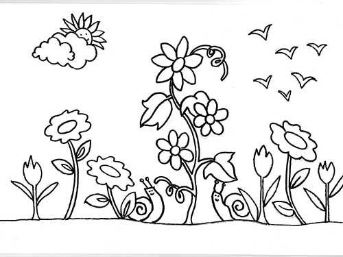 30 Desenhos De Jardim Para Criancas Colorir Gratis Jardim