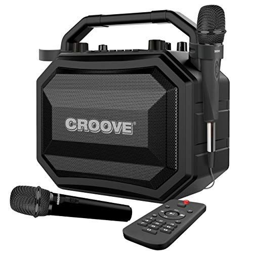 The Croove Party Box delivers 30 watts of high-definition audio that's powerful enough for your indoor or outdoor event. Equipped with two microphones and advanced sound settings, this cutting-edge karaoke player makes the house rock and your talent shine through #bestkaraokemachine