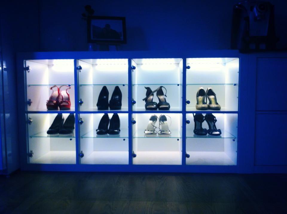 Una scarpiera da sogno con IKEA KALLAX #FAI DA TE, #IKEA, #KALLAX - reglage porte placard ikea