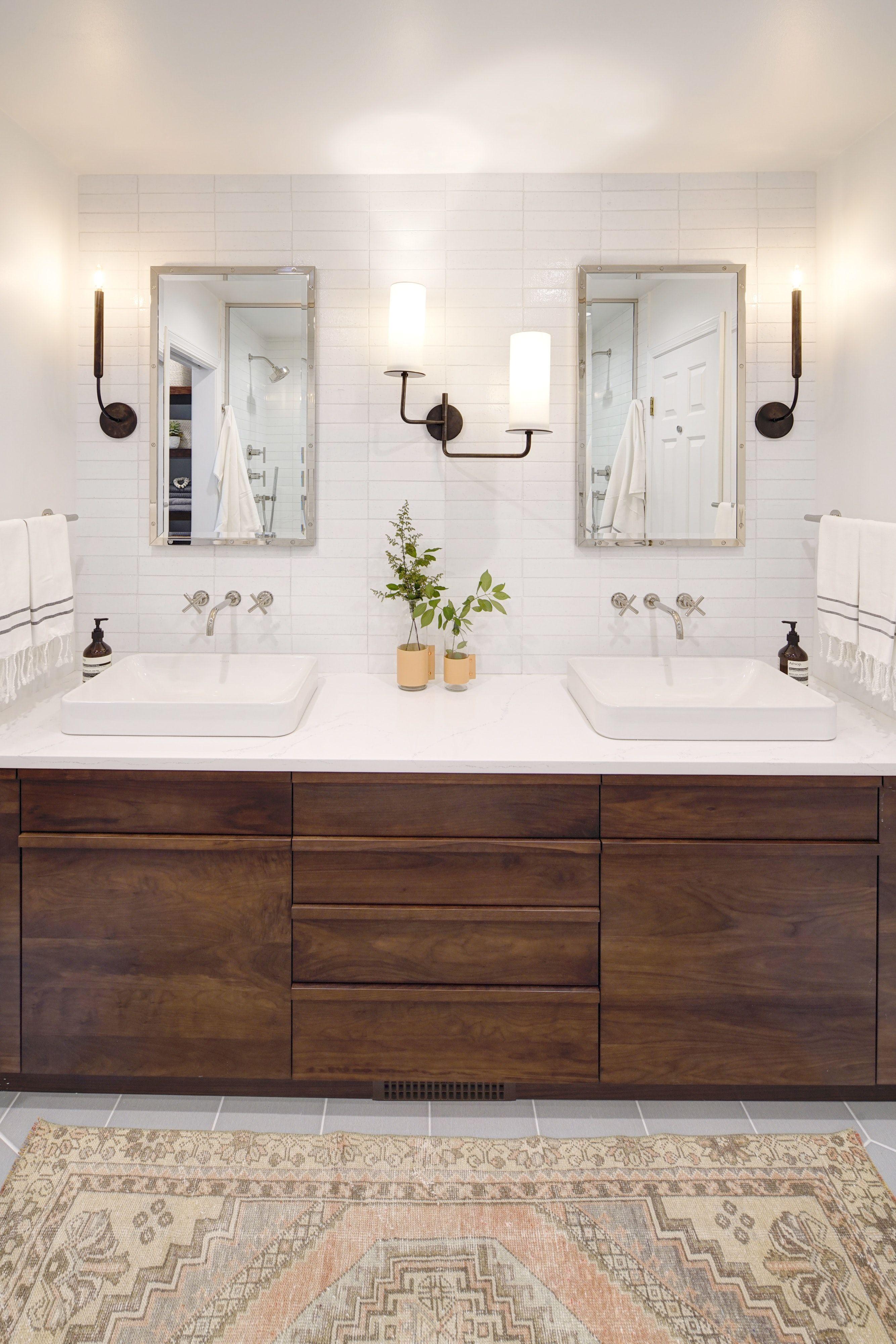 wicker park modern master bathroom custom vanity by on custom bathroom vanity plans id=57062