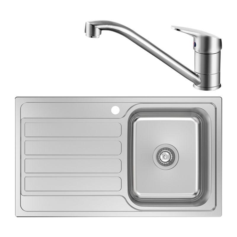 Estilo Single Rh Bowl Sink And Mixer Combo Bunnings Warehouse Sink Bowl Sink Tiny House Kitchen
