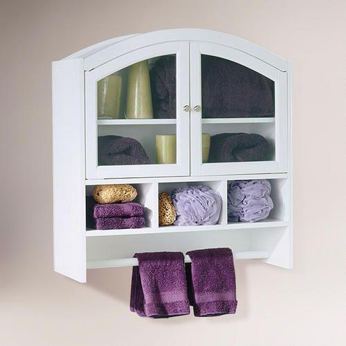 White Arch Bathroom Wall Cabinet