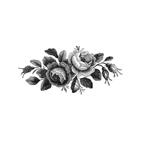 ensemble de 2 roses de antique vintage noir et blanc. Black Bedroom Furniture Sets. Home Design Ideas