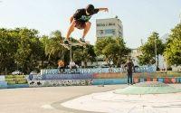 Mais um skatista em destaque Airam Pinheiro do Rio de Janeiro com 16 anos de idade e manobra enviada é um Ollie e o local é na Praça Duo.
