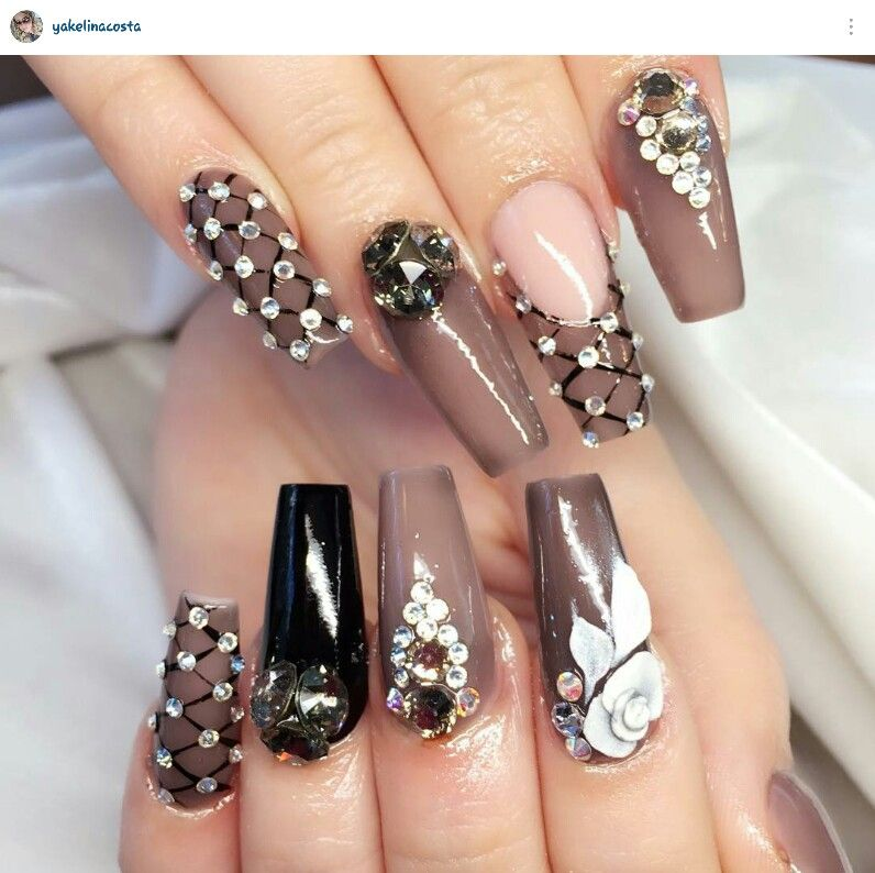 Pin by Cinthia Ducky on Uñas | Pinterest | Bling nails, Makeup and ...