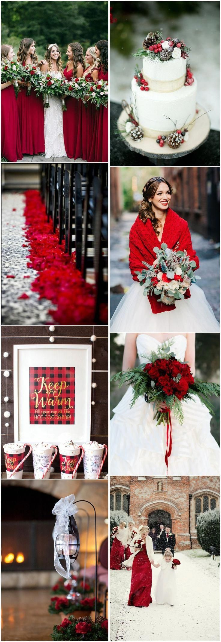 Thinking Of Getting Married You Must See These Country Wedding Ideas 6187 Countryweddingideas Winter Wedding Red Winter Wedding Colors Red Wedding