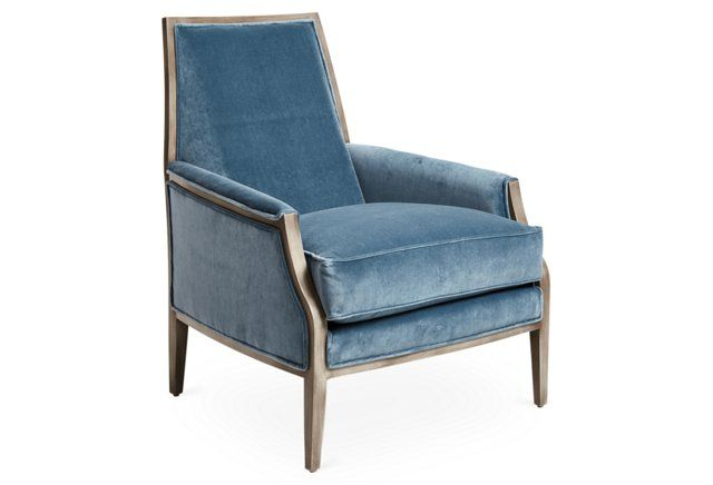 Best Love This Gorgeous Soft Blue Velvet Shade Luxury Chairs 400 x 300