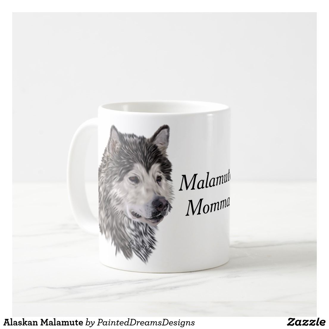 Alaskan Malamute Coffee Mug Mugs Alaskan Malamute Malamute