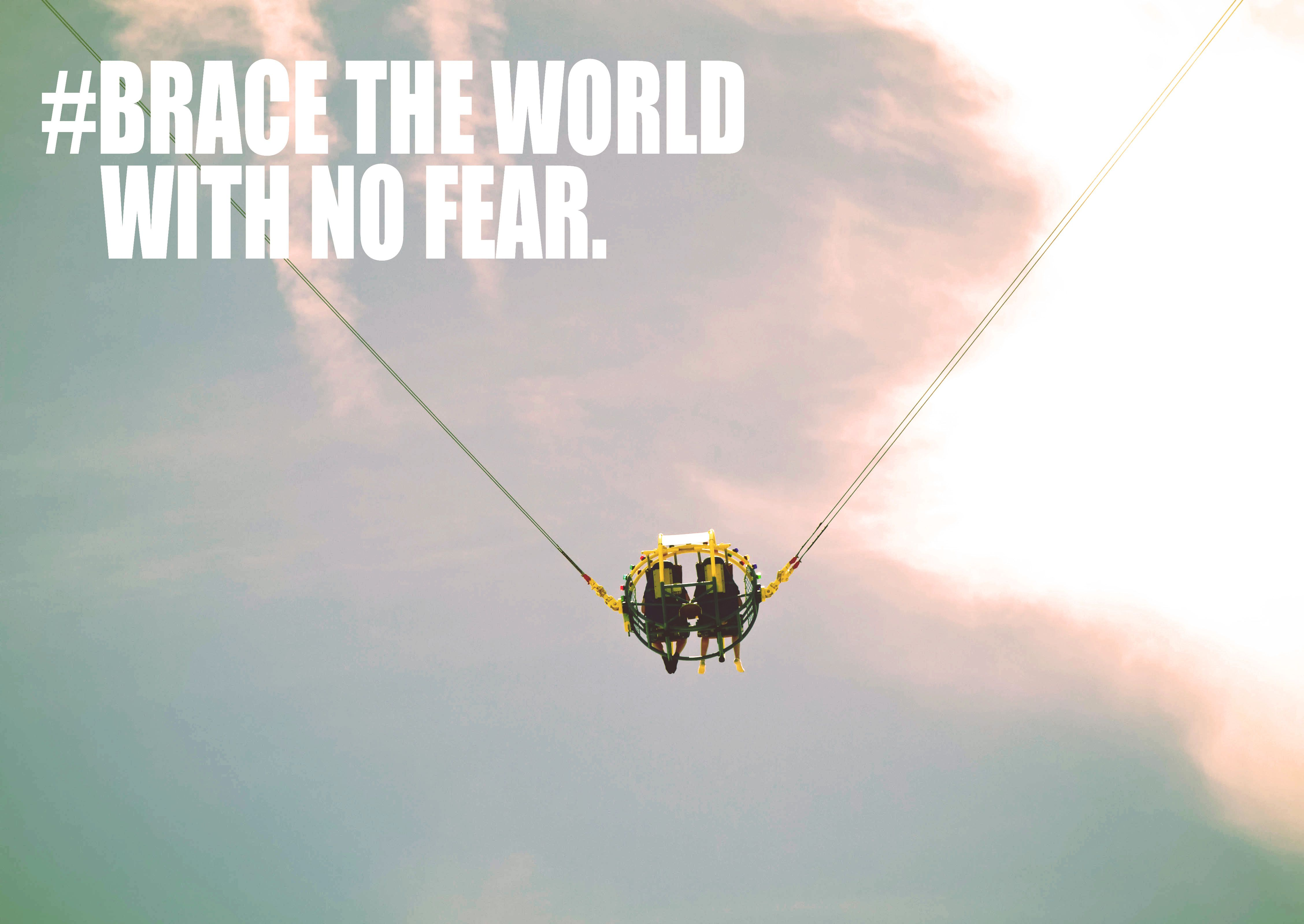 Braces Quotes Brace The World With No Feartravel Quote  Travel Quotes