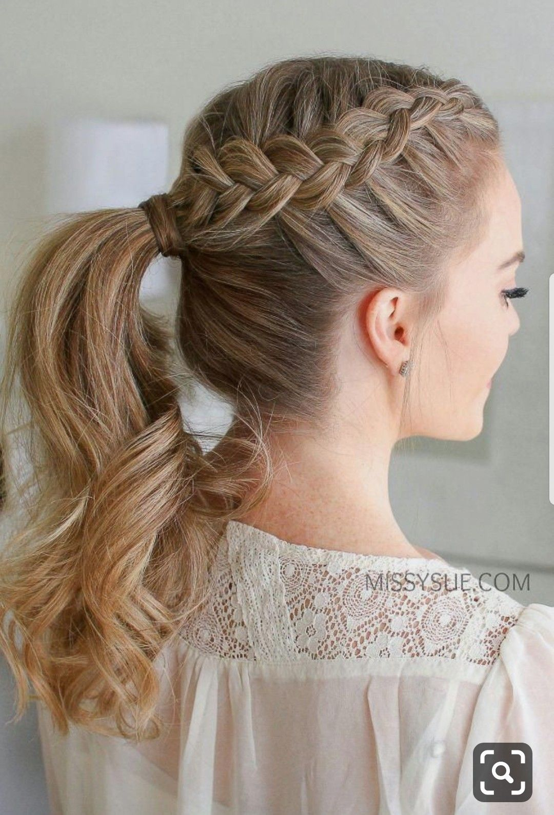Pin By 15 On Peinados Tumblr Dutch Braid Ponytail Tutorial Hair Styles Braided Ponytail Hairstyles