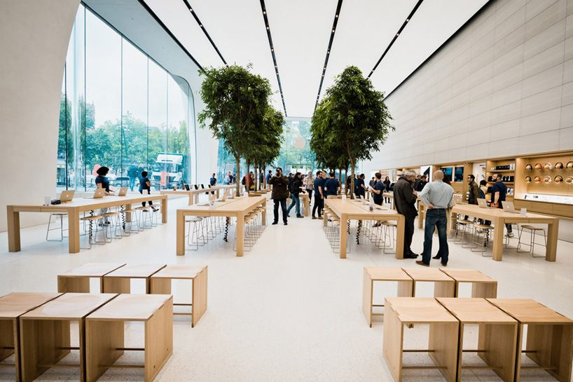 Apple S Own Jony Ive Helps Design New Brussels Store Interior
