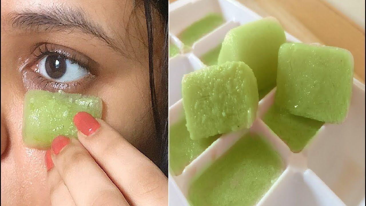 Para Las Bolsas Y Ojeras Frota El Cubo De Hielo De Pepino Diariamente Alrededor De Los Ojos Cucumber On Eyes Cucumber Beauty Puffy Eyes