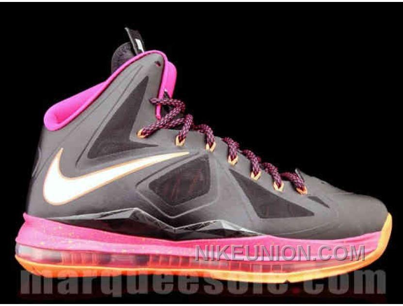 Nike Zoom Lebron 10 X Floridians Grey Pink Orange TopDeals