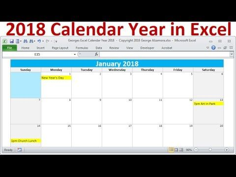 Calendar Year In Excel  Monthly Calendars Year