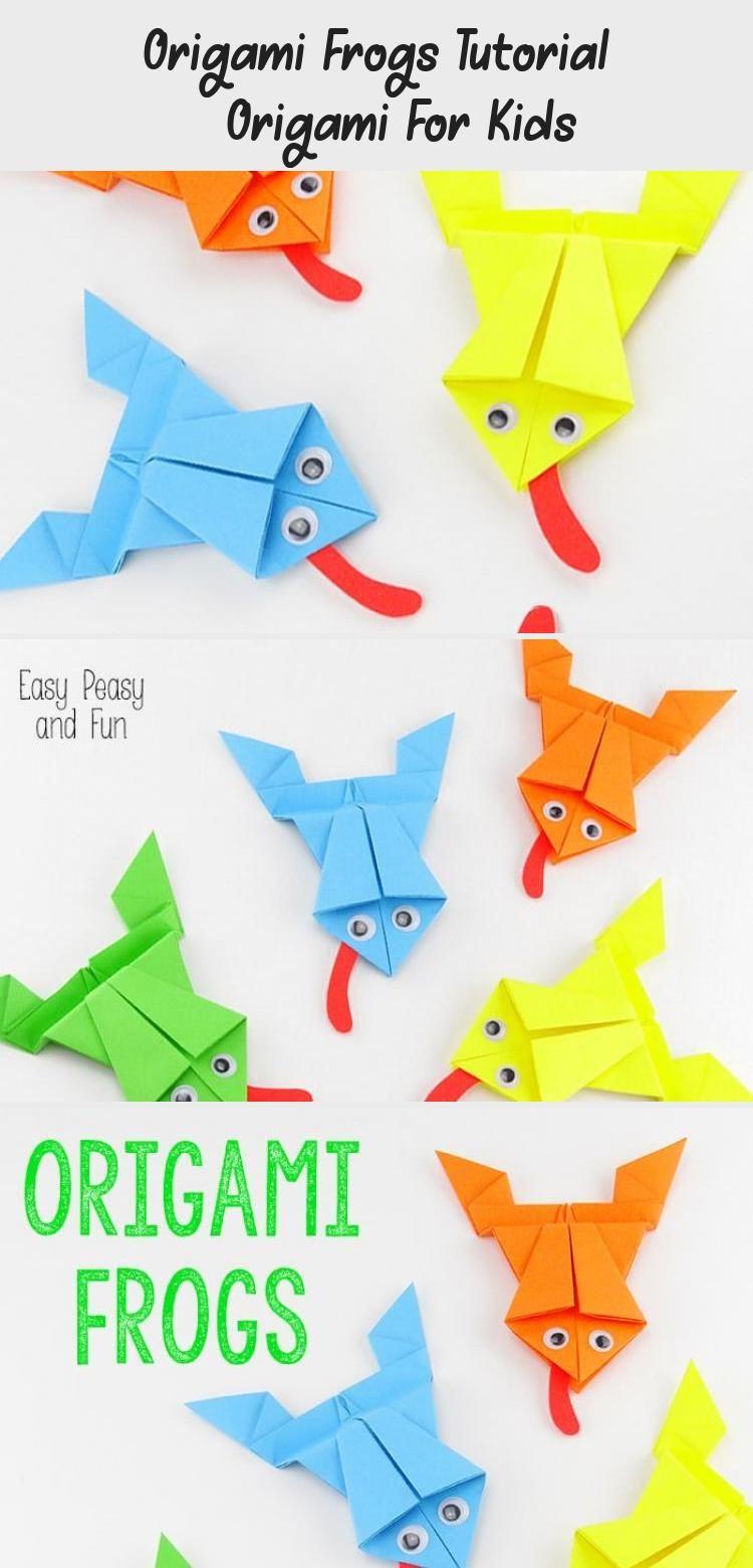 Photo of Origami Frösche Tutorial – Origami für Kinder #origamiMobile #origamiOrnaments #orig …