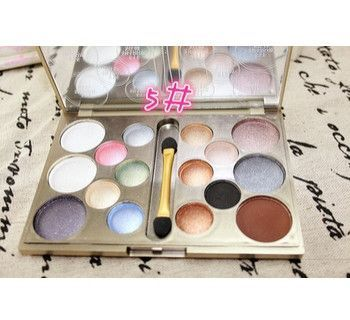 16 colors waterproof Eyeshadow palette very flash diamond color/smoky earth tone eye shadow makeup palette high quality glitter Alternative Measures