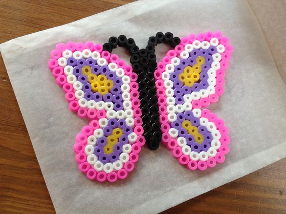 schmetterling butterfly hama beads by dacrina kids. Black Bedroom Furniture Sets. Home Design Ideas