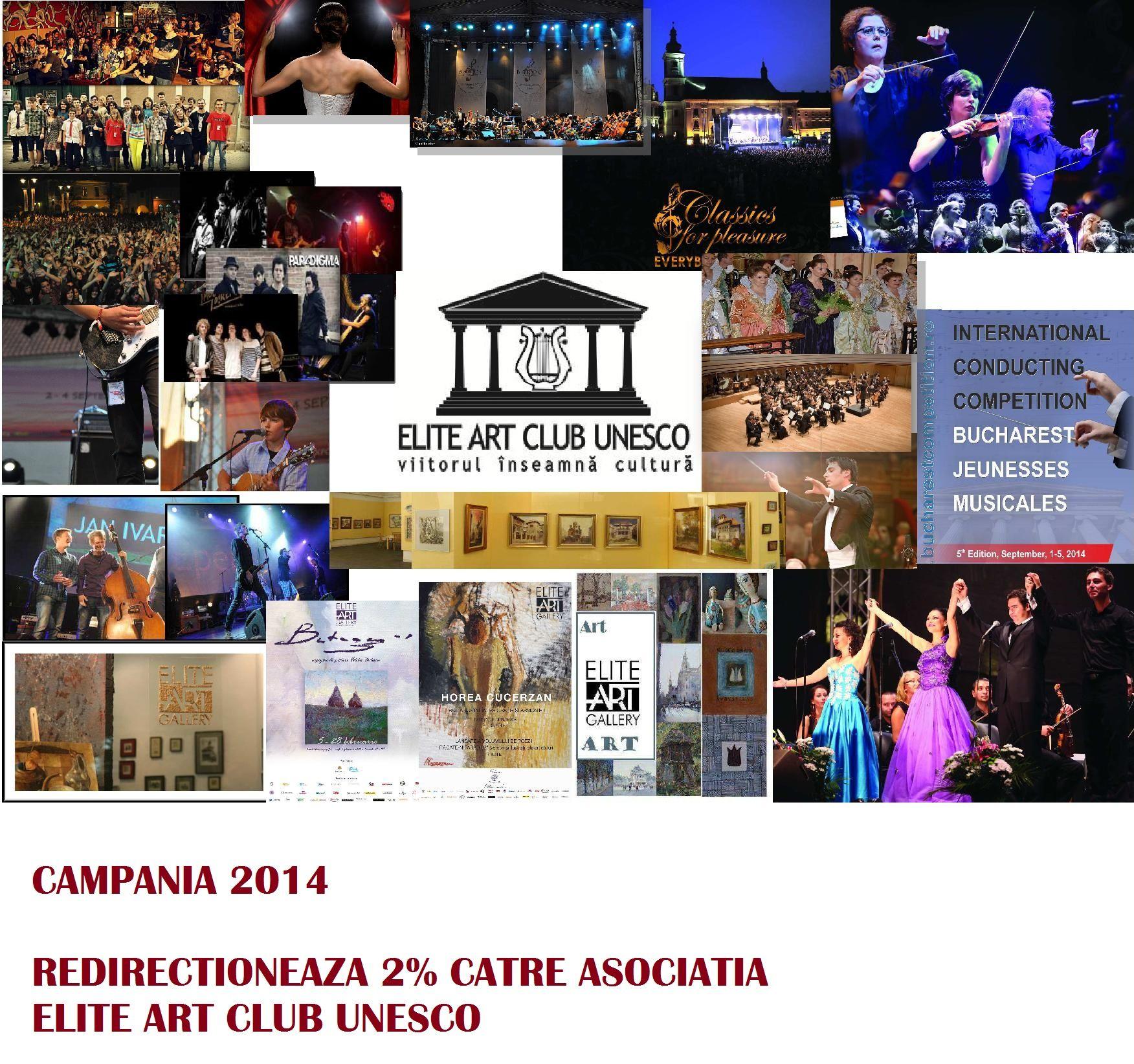 Cultura creează educaţie! Viitorul înseamnă cultură!  Direcţionează acum 2% către ELITE ART Club UNESCO şi susţine excelenţa în cultură şi educaţia tinerilor muzicieni români! Susţine, alături de noi, dezvoltarea societăţii româneşti!  Toate informatiile necesare aici: http://www.eliteart.org/campanie-2-la-suta.html #cultura#tineri#proiectepentrutineret #youth #art
