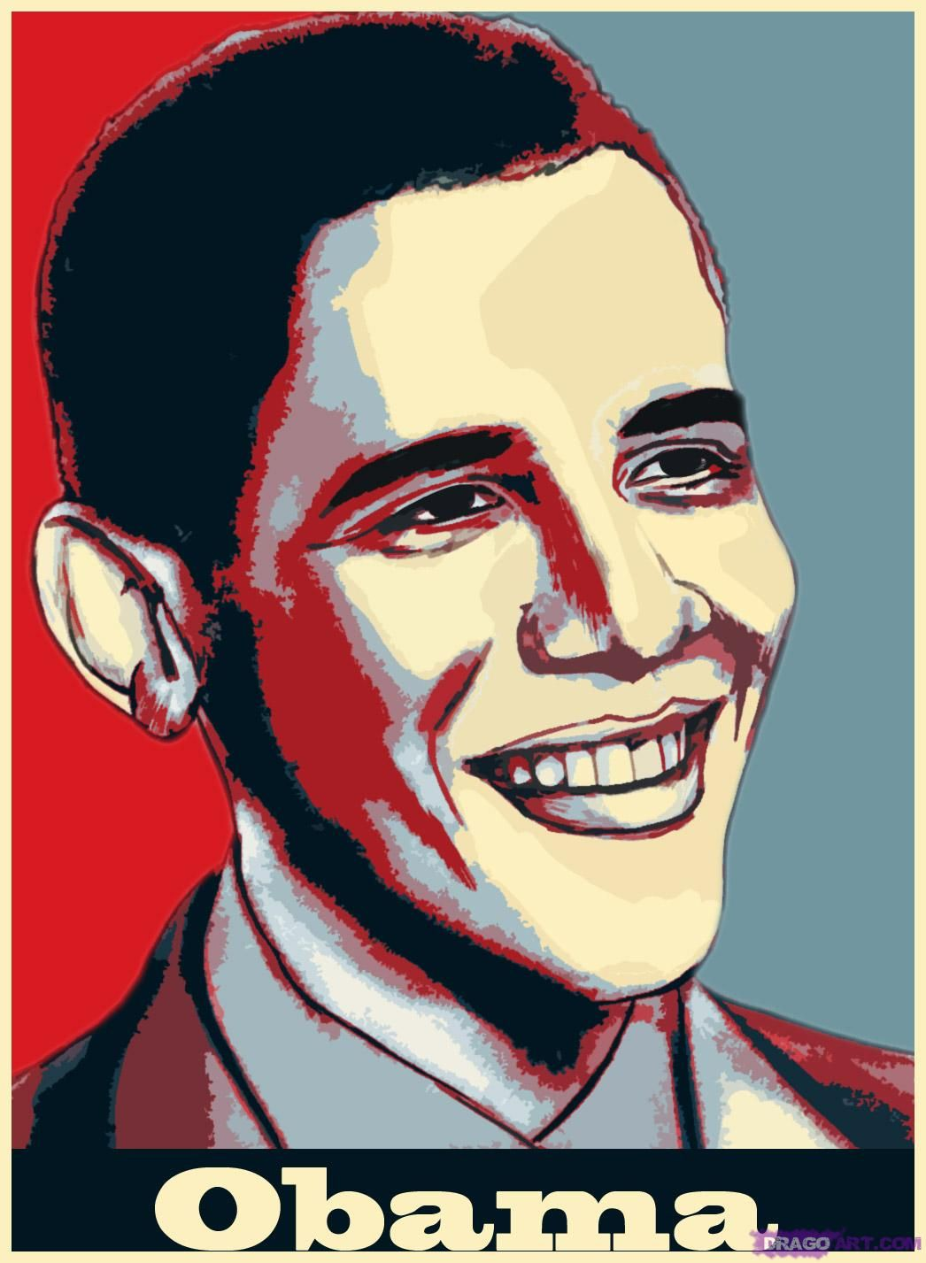 how to draw barack obama | Projects to Try | Pinterest
