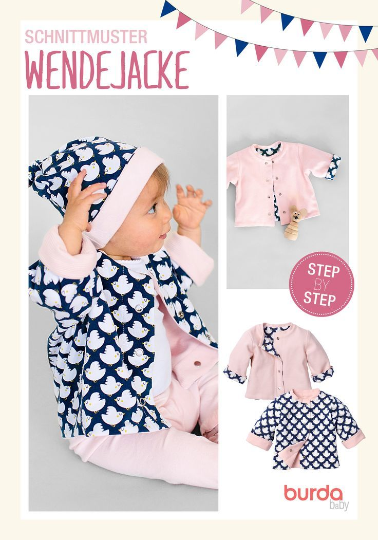 Photo of Sewing pattern including step-by-step printed or rather made of fine rib jersey? Di … Children's clothing – children's clothing
